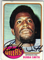 BUBBA SMITH HOUSTON OILERS AUTOGRAPHED VINTAGE FOOTBALL CARD #32713E