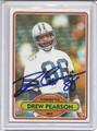 Drew Pearson Autographed Football Card 3297