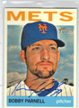 BOBBY PARNELL NEW YORK METS AUTOGRAPHED BASEBALL CARD #33113J