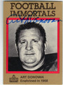 ART DONOVAN AUTOGRAPHED FOOTBALL CARD #33113L