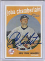Joba Chamberlain Autographed Baseball Card 3323