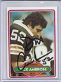 Dick Ambrose Autographed Football Card 3431