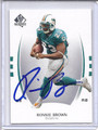 Ronnie Brown Autographed Football Card 3465