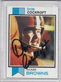 Don Cockroft Autographed Football Card 3538