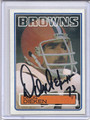 Doug Dieken Autographed Football Card 3540