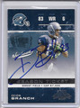 Deion Branch Autographed Football Card 3630