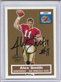 Alex Smith Autographed Rookie Football Card 3658