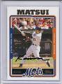 Kazuo Matsui Autographed Baseball Card 3665