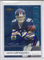 Jeremy Shockey Autographed Football Card 3674