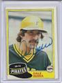 Dale Berra Autographed Baseball Card 3695