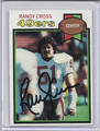 Randy Cross Autographed Football Card 3732