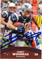DANNY WOODHEAD AUTOGRAPHED FOOTBALL CARD #40112K