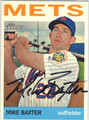 MIKE BAXTER NEW YORK METS AUTOGRAPHED BASEBALL CARD #40113B