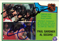 PAUL GARDNER & AL SECORD DOUBLE AUTOGRAPHED HOCKEY CARD #40212E