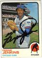 FERGIE JENKINS CHICAGO CUBS AUTOGRAPHED VINTAGE BASEBALL CARD #40113J