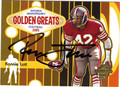 RONNIE LOTT AUTOGRAPHED FOOTBALL CARD #40312D