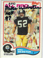 MIKE WEBSTER PITTSBURGH STEELERS AUTOGRAPHED VINTAGE FOOTBALL CARD #40313G