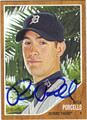 RICK PORCELLO AUTOGRAPHED BASEBALL CARD #40412G