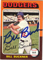 BILL BUCKNER LOS ANGELES DODGERS AUTOGRAPHED VINTAGE BASEBALL CARD #40413A