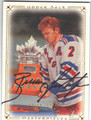 BRIAN LEETCH NEW YORK RANGERS AUTOGRAPHED HOCKEY CARD #40413i