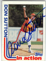 DON SUTTON HOUSTON ASTROS AUTOGRAPHED VINTAGE BASEBALL CARD #40413H