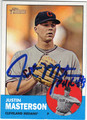 JUSTIN MASTERSON CLEVELAND INDIANS AUTOGRAPHED BASEBALL CARD #40413J
