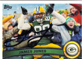 JAMES JONES GREEN BAY PACKERS AUTOGRAPHED FOOTBALL CARD #40613C