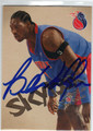 BEN WALLACE DETROIT PISTONS AUTOGRAPHED BASKETBALL CARD #40613i