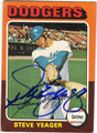 STEVE YEAGER LOS ANGELES DODGERS AUTOGRAPHED VINTAGE BASEBALL CARD #40613M