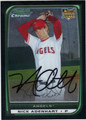 NICK ADENHART ANAHEIM ANGELS AUTOGRAPHED ROOKIE BASEBALL CARD #40713B
