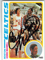 CEDRIC MAXWELL BOSTON CELTICS AUTOGRAPHED ROOKIE BASKETBALL CARD #40513C