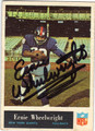 ERNIE WHEELWRIGHT NEW YORK GIANTS AUTOGRAPHED VINTAGE ROOKIE FOOTBALL CARD #40713K
