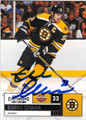 ZDENO CHARA BOSTON BRUINS AUTOGRAPHED HOCKEY CARD #40813B