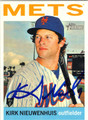 KIRK NIEUWENHUIS NEW YORK METS AUTOGRAPHED BASEBALL CARD #40813C