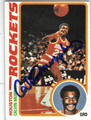 CALVIN MURPHY HOUSTON ROCKETS AUTOGRAPHED VINTAGE BASKETBALL CARD #40713N