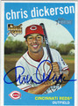 CHRIS DICKERSON CINCINNATI REDS AUTOGRAPHED ROOKIE BASEBALL CARD #40913O