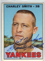 CHARLEY SMITH NEW YORK YANKEES AUTOGRAPHED VINTAGE BASEBALL CARD #41013A