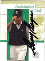 GARY PLAYER AUTOGRAPHED GOLF CARD #40912E