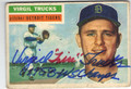 VIRGIL TRUCKS DETROIT TIGERS AUTOGRAPHED VINTAGE BASEBALL CARD #41013O