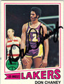 DON CHANEY LOS ANGELES LAKERS AUTOGRAPHED VINTAGE BASKETBALL CARD #41213C