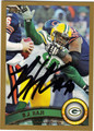 BJ RAJI GREEN BAY PACKERS AUTOGRAPHED FOOTBALL CARD #41213G
