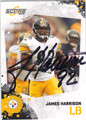 JAMES HARRISON PITTSBURGH STEELERS AUTOGRAPHED FOOTBALL CARD #41013i