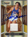 BRUCE JENNER AUTOGRAPHED & NUMBERED PIECE OF THE GAME OLYMPICS CARD #41313E