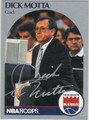 DICK MOTTA SACRAMENTO KINGS AUTOGRAPHED BASKETBALL CARD #41313H