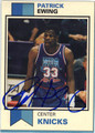PATRICK EWING NEW YORK KNICKS AUTOGRAPHED BASKETBALL CARD #41313K