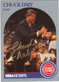 CHUCK DALY AUTOGRAPHED BASKETBALL CARD #41412D