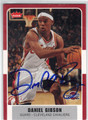 DANIEL GIBSON CLEVELAND CAVALIERS AUTOGRAPHED BASKETBALL CARD #41413B