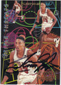 SCOTTIE PIPPEN CHICAGO BULLS AUTOGRAPHED BASKETBALL CARD #41413E