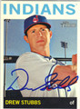 DREW STUBBS CLEVELAND INDIANS AUTOGRAPHED BASEBALL CARD #41413L