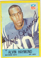 ALVIN HAYMOND BALTIMORE COLTS AUTOGRAPHED VINTAGE FOOTBALL CARD #41213N